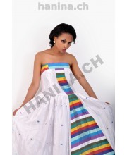 Modern ethiopian long dress with inside Tilet