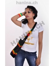 Ethiopian t-shirt, handband and handbag